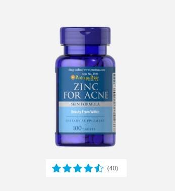 Zink tegen acne Image