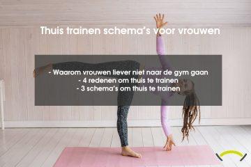 Thuis trainen schema voor vrouwen