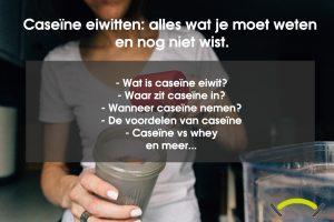 Caseïne eiwitten & shakes: slapend gespierd worden?